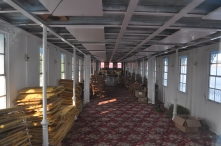 inside the old Mississippi steamboat