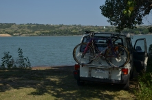 swim stop at the Missouri river